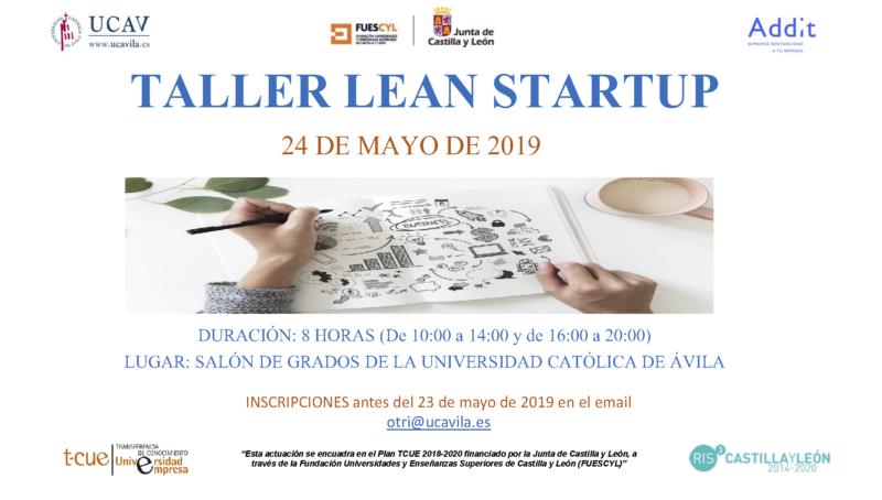 Cartel Taller Lean Start-UP 2019 UCAV
