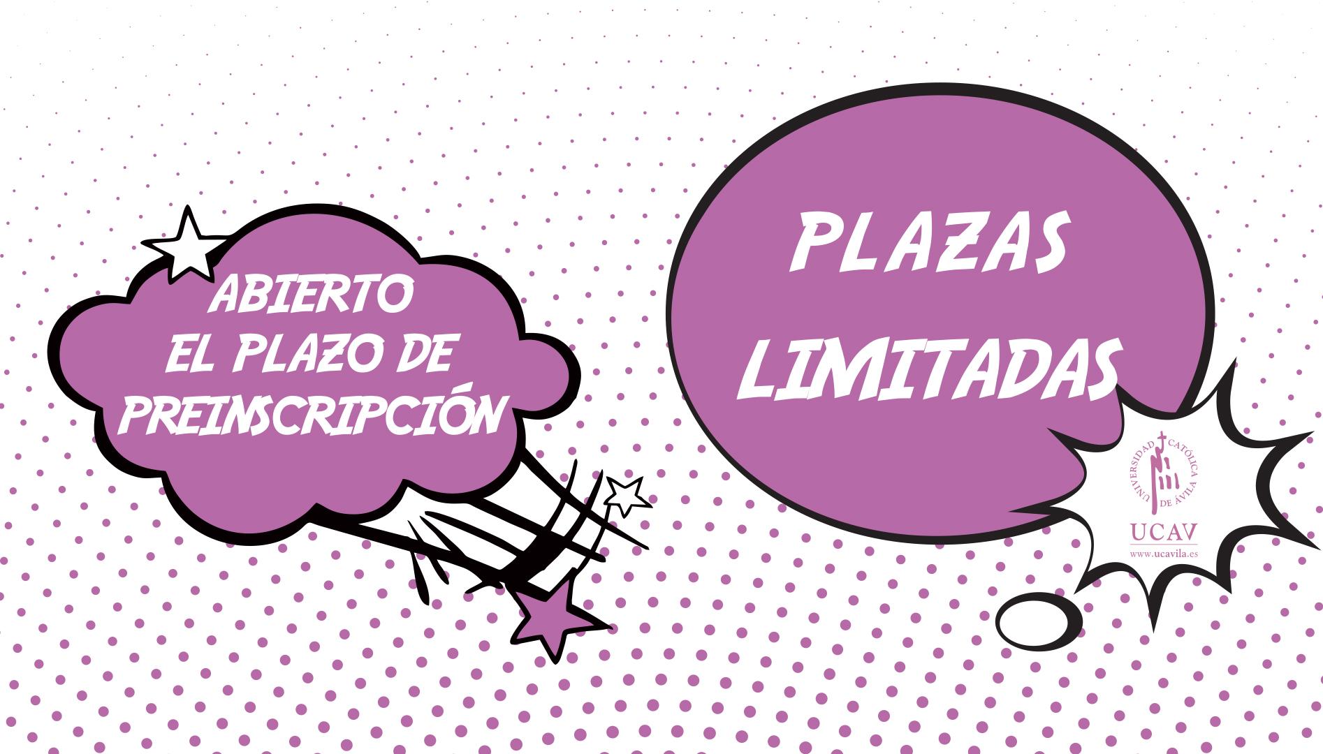 ABIERTO PLAZO DE PREINSCRIPCIÓN