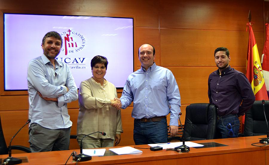 La UCAV firma un convenio de colaboración con el Club de Natación Ciudad de Ávila