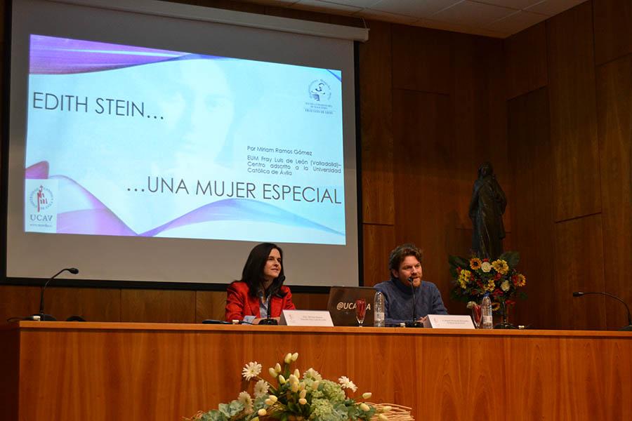 Miriam Ramos, profesora de la Escuela Fray Luis de León, da a conocer la vida de Edith Stein