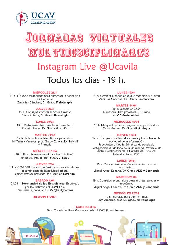 La UCAV amplía su formación vía Instagram a toda la sociedad