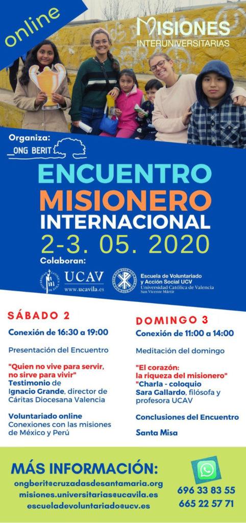 La UCAV celebra el Encuentro Misionero Universitario Online