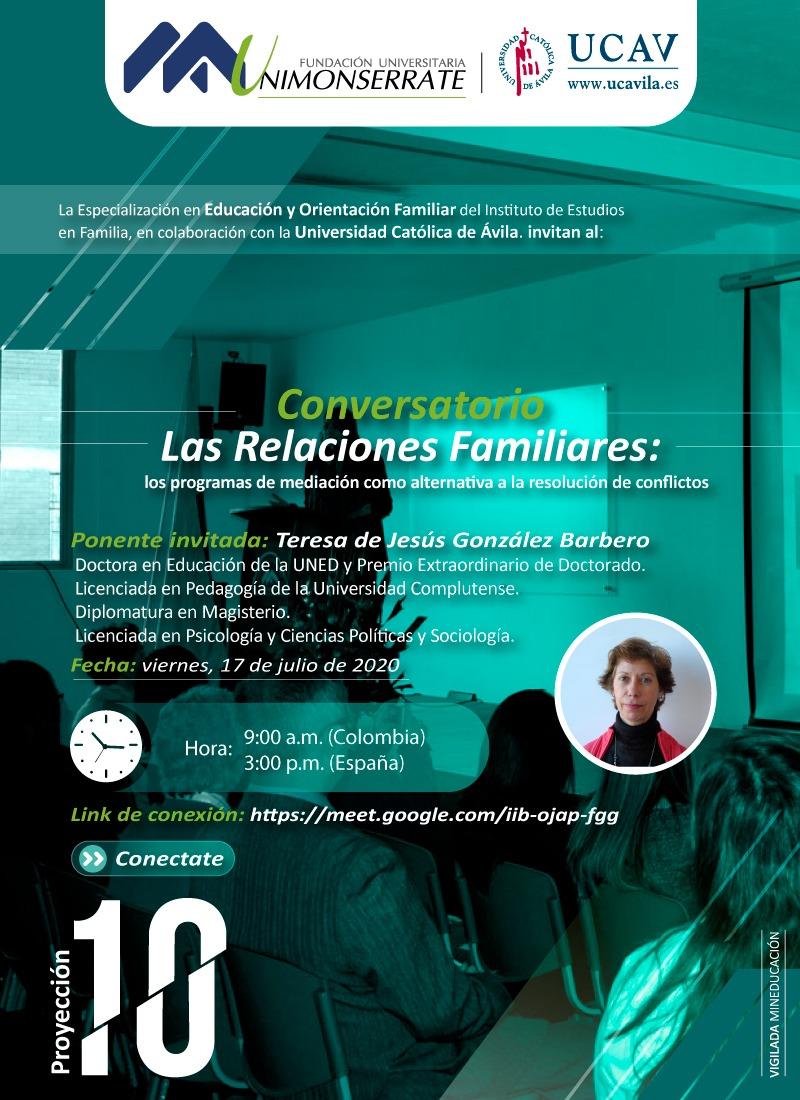 """La UCAV participa en el conversatorio """"Las relaciones familiares: Los programas de mediación como alternativa a la resolución de conflictos"""""""