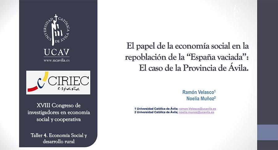 La Economía Social como herramienta para frenar la despoblación en la provincia de Ávila