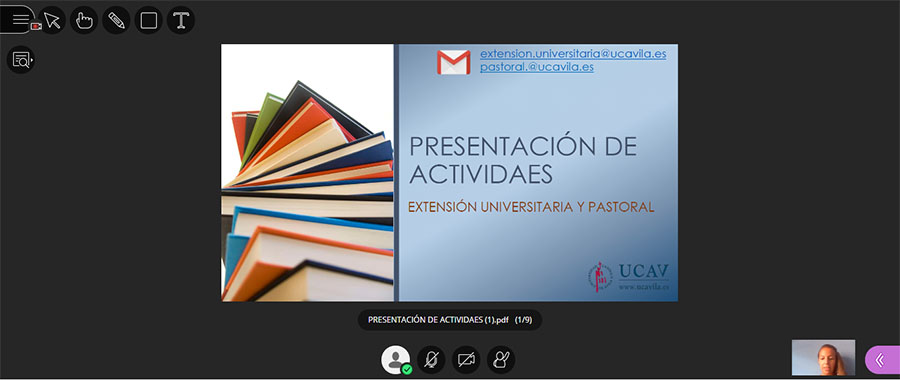 Comienzan las actividades del servicio de Extensión Universitaria y Pastoral de la Universidad Católica de Ávila