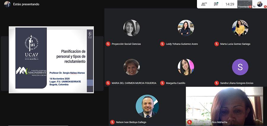 La UCAV y la UNIMONSERRATE (Bogotá) realizan un intercambio virtual