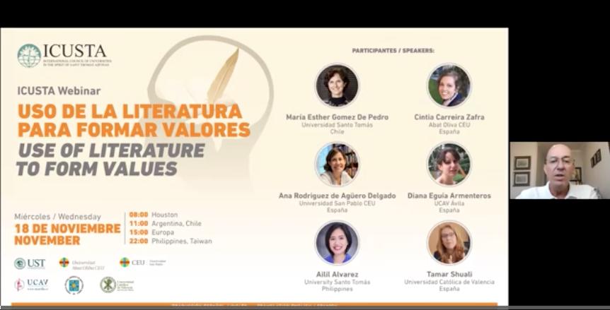La UCAV participa en el encuentro sobre literatura y valores de ICUSTA