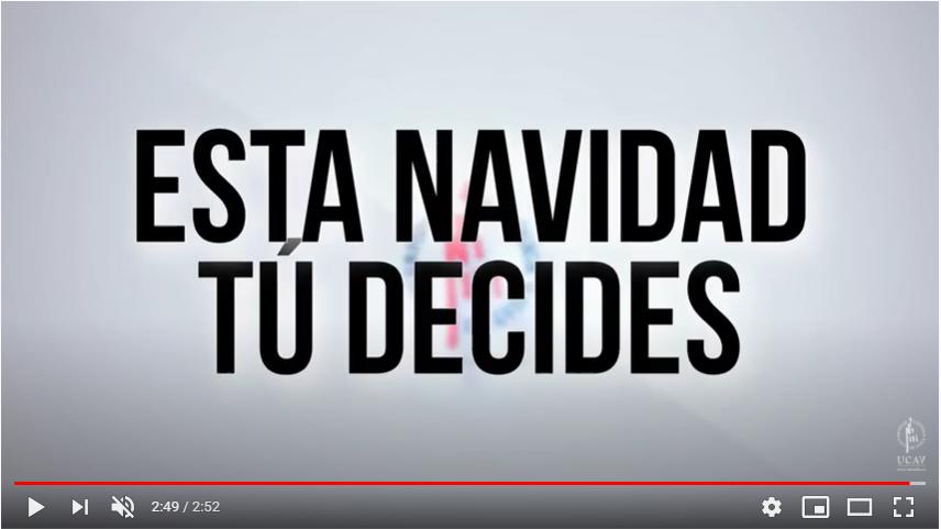 La UCAV lanza un vídeo en el que sus alumnos dan ejemplo estas Navidades frente al Covid para evitar una tercera ola