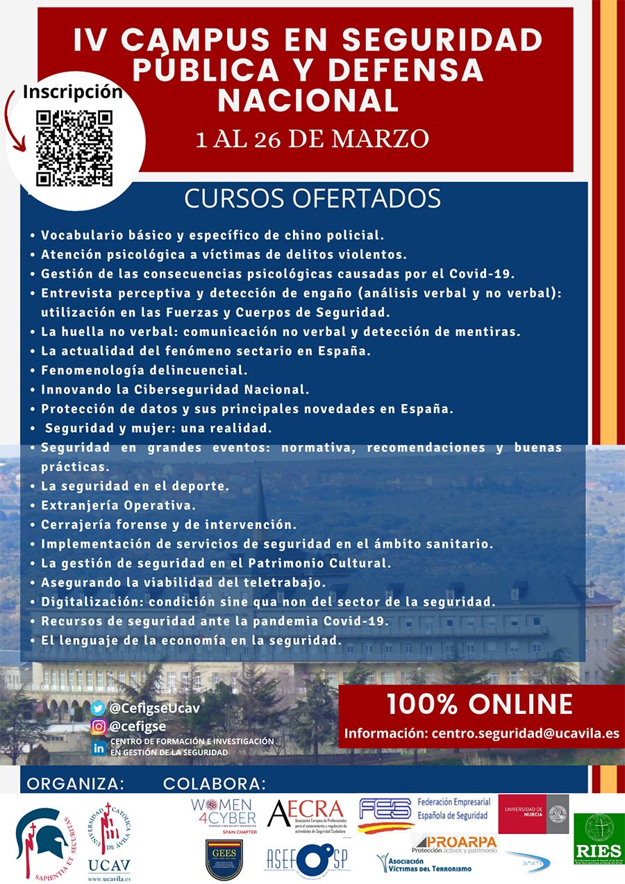 El CEFIGSE de la UCAV presenta la IV Edición del Campus en Seguridad Pública y Defensa Nacional