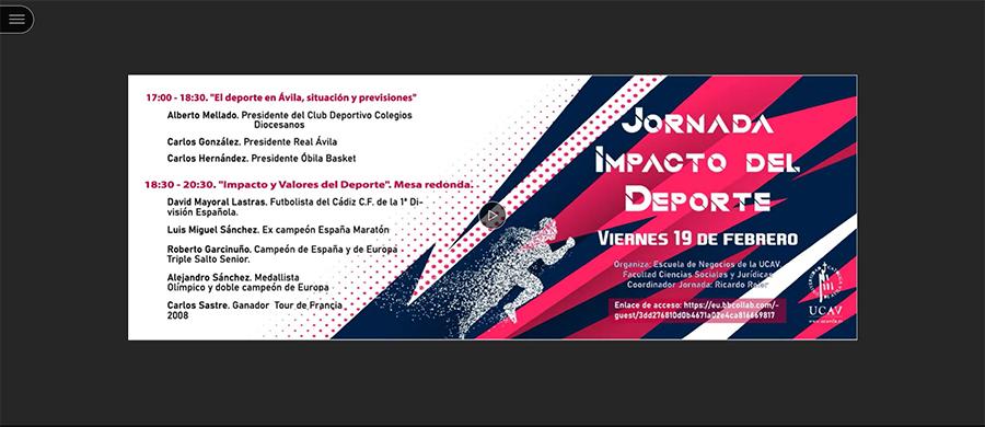 Más de una treintena de personas participan en la Jornada Impacto del Deporte de la UCAV