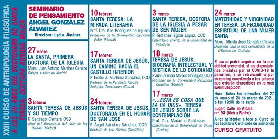 Santa Teresa de Jesús y su doctorado, el tema del curso coordinado por la profesora de la UCAV Sara Gallardo