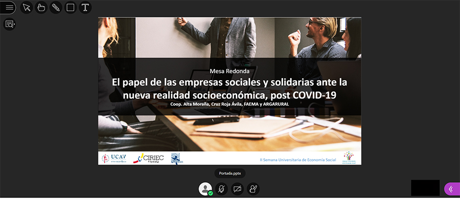 Asociaciones y organizaciones abulenses exponen sus experiencias tras el Covid en la II Semana de la Economía Social de la UCAV