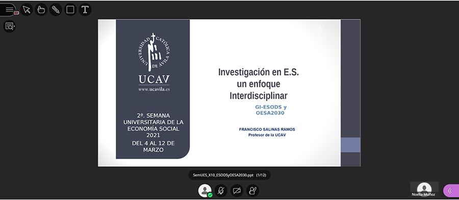 La investigación en la Economía Social y su relación con la Universidad, los temas tratados en la quinta jornada de la Semana de la Economía Social de la UCAV