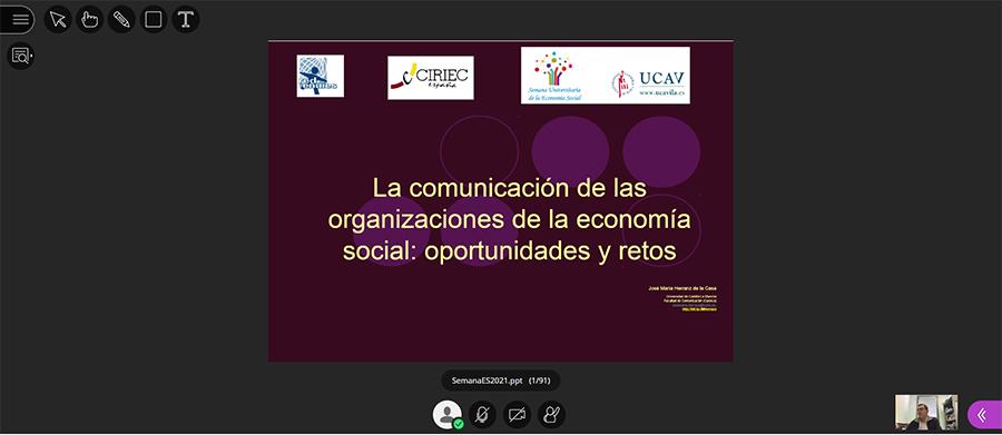 La importancia de la Comunicación Corporativa centra el sexto día de la Semana de la Economía Social de la UCAV
