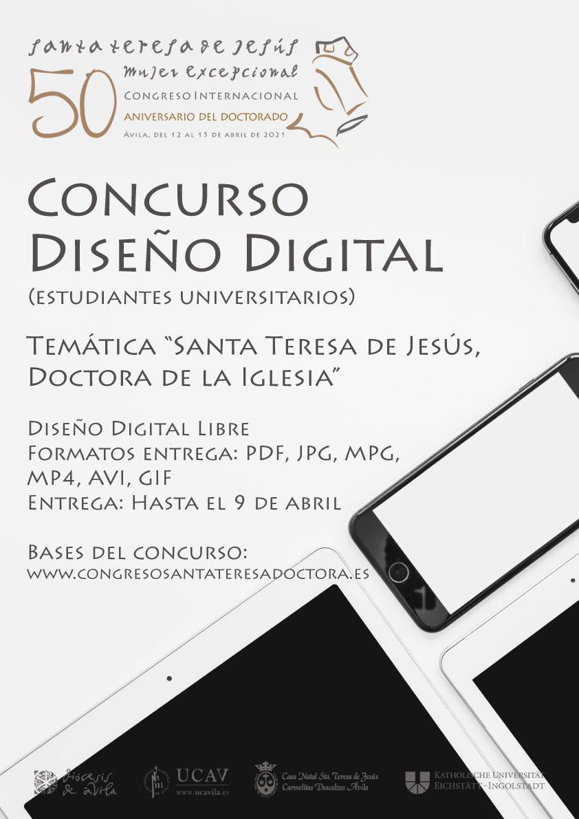 El Obispado de Ávila, los Carmelitas Descalzos y la UCAV convocan un concurso de diseño digital para que estudiantes universitarios conmemoren los cincuenta años del Doctorado de Santa Teresa de Jesús