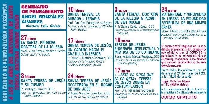 La UCAV imparte un curso on line dedicado a los 50 años del doctorado de Santa Teresa