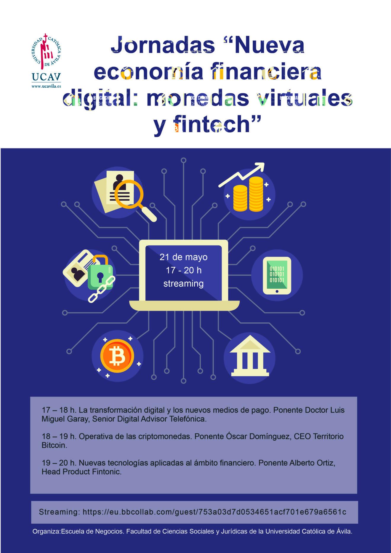 La economía financiera digital, tema central de las próximas jornadas de la UCAV