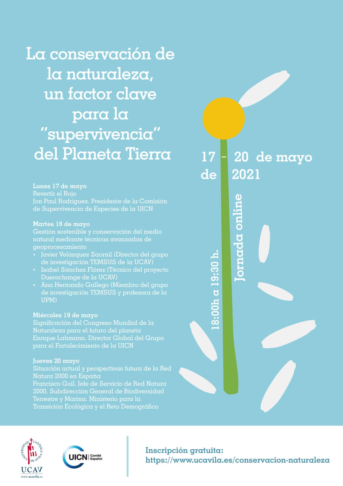 La UCAV y el Comité Español de la UICN celebrarán las V Jornadas de Conservación de la Naturaleza
