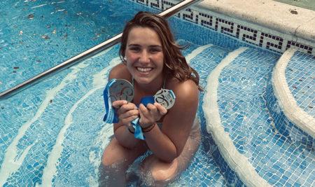 """Aroa Silva, subcampeona de España absoluta en piscina: """"Estudiar en la UCAV me ha dado el privilegio de poder entrenar al 100%"""""""