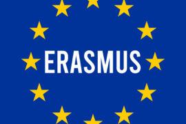 Erasmus,Sign,Illustration,With,The,European,Flag