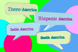 3d,Illustration,Of,The,Words,Hispanic,America,,South,America,,Ibero
