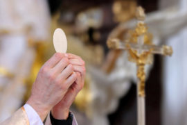 Priest,Celebrate,Mass,At,The,Church,And,Empty,Place,For