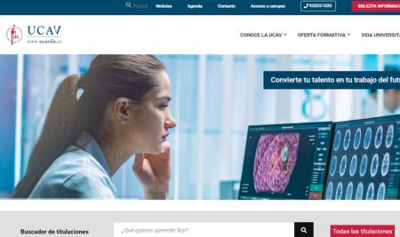 La UCAV lanza su nueva web orientada a mejorar su servicio con los futuros y actuales alumnos